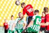 """Progų neišnaudojęs FK """"Vilnius"""" sostinės derbyje su """"Žalgiriu B"""" liko be pergalės"""