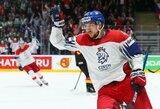 Čekijos ledo ritulio rinktinė po ketverių metų pertraukos pateko į pasaulio čempionato pusfinalį