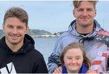 """Jautri istorija: """"All Blacks"""" rinktinės broliai pristatė Dauno sindromą turinčią seserį"""