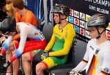 G.Serafinas pasaulio jaunių dviračių treko čempionate – 13-as