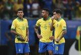 """Dviejų įvarčių netekusi Brazilija prarado pirmuosius taškus """"Copa America"""" turnyre"""