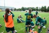 Moterų futbolo rinktinė Šiauliuose kovos dėl Baltijos taurės