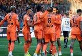 """""""Lyon"""" įveikė dešimtyje rungtyniauti likusius """"Angers"""" futbolininkus"""