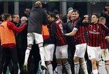 """Pirmąjį rungtynių įvartį praleidę """"Milan"""" futbolininkai nugalėjo """"Spal"""""""