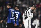 """Italijos grandų mūšis baigėsi be įvarčių, bet leido """"Inter"""" pakilti į pirmą vietą"""