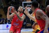 """Eurolygoje įvykusioje Rusijos klubų akistatoje CSKA nugalėjo R.Kurtinaičio vadovaujamą """"Chimki"""""""
