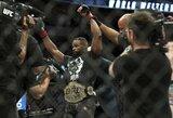 """T.Woodley pasiryžęs kovoti """"UFC 230"""" turnyre su viena sąlyga, J.Jonesas pastebėtas UFC būstinėje"""
