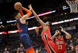 R.Westbrookas pratęsė rekordinę seriją, A.Davisas patyrė traumą