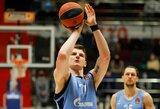 """A.Gudaitis su """"Zenit"""" komanda Eurolygoje patyrė triuškinamą nesėkmę"""
