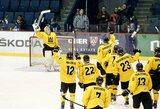 3 greitus įvarčius pelnę Lietuvos ledo ritulininkai čempionatą pradėjo pergale prieš ispanus