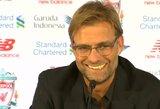 """Orakulas J.Kloppas: treneris dar 2015 m. nuspėjo, kada """"Liverpool"""" iškovos titulą"""