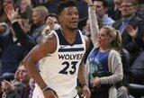 """Puikų pasiekimą užfiksavusi """"Timberwolves"""" komandinėmis pastangomis nustelbė R.Westbrooką"""