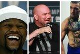 """UFC prezidentas D.White'as: """"75 proc. tikimybė, kad C.McGregoras ir F.Mayweatheris kausis šiais metais"""""""
