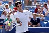 ATP serijos teniso turnyro JAV finale R.Federeris nepaliko vilčių N.Djokovičiui