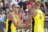 Pasaulio elite įsitvirtinantys Lietuvos paplūdimio tinklininkai stoja į kovą Europos čempionate