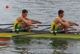 Broliai Lapatiukai pasaulio jaunių irklavimo čempionate liko per žingsnį nuo medalių (atnaujinta, komentaras)