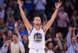 NBA dienos epizodų viršūnėje – S.Curry prasiveržimas link krepšio