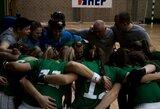 Priešpaskutinėse čempionato rungtynėse Lietuvos riedulininkės nusileido lenkėms
