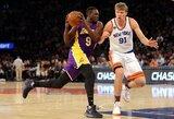 """""""Knicks"""" su blankiu M.Kuzminsku nepasipriešino NBA autsaiderei"""