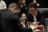 Artėja pratęsimas: M.Carlsenas ir F.Caruana vienuoliktą kartą iš eilės sužaidė lygiosiomis