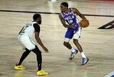 """16 krepšininkų žaidimo minučių suteikusi """"76ers"""" įsirašė pergalę"""