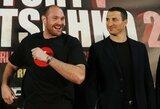 """T.Fury šou spaudos konferencijoje: """"Esu storas kaip kiaulė, nekenčiu bokso, o V.Kličko nokautuosiu pirmame raunde"""""""