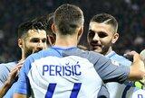 """Pergalę Italijoje iškovoję """"Inter"""" pakilo į trečią poziciją"""