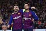 """Čempionų lyga: namuose įvarčiais prabilusi """"Barcelona"""" užtikrintai žengė į ketvirtfinalį"""