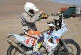 B.Bardauskas šeštąjį etapą pavadino neeiline diena, kopos pasiglemžė dešimt motociklininkų