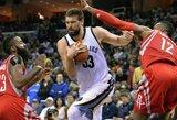 "M.Gasolio trigubas dublis pažymėtas pergale prieš ""Rockets"""