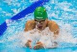 U.Mažutaitytė Lietuvos čempionatą baigė dar vienu rekordu, geriausiu plaukiku tapo A.Šidlauskas