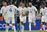 2 įvarčių deficitą panaikinusi Prancūzijos rinktinė 90-ąją minutę išplėšė pergalę prieš belgus ir pateko į Tautų lygos finalą