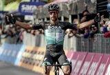 """Po poilsio dienos pratęstose """"Giro d'Italia"""" lenktynėse – P.Sagano pergalė ir I.Konovalovo komandos praradimas"""