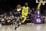 """L.Jamesas sužaidė debiutines rungtynes """"Lakers"""" gretose"""