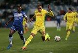 """Atidėtos """"Ligue 1"""" rungtynės: ankstyva raudona kortelė, keturi įvarčiai ir dramatiškai iškovotas taškas"""