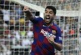 """""""Barcelona"""" svarsto surasti pamainą traumuotam L.Suarezui"""