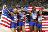 Įspūdinga: JAV bėgikė pagerino U.Bolto visų laikų rekordą (papildyta)