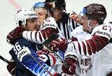 Latvijos ledo ritulininkai netikėtai atėmė tašką iš amerikiečių