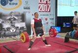 T.Gečas Europos jėgos trikovės čempionate – 10-as