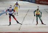 Dramatiškas finišas pasaulio biatlono taurės lenktynėse: dvi lyderes skyrė 0.2 sek.