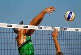 Lietuvos paplūdimio tinklininkai tęsia pergalių seriją Europos jaunimo čempionate