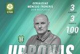 A lyga: V.Urbonas – geriausias treneris rugpjūtį