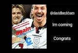 Z.Ibrahimovičius pralaimėjo lažybas D.Beckhamui