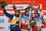 Pasaulio biatlono taurės etape Austrijoje aukštomis vietomis nenudžiugino ir Lietuvos vyrai