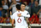 Prieš kelionę į Lietuvą – C.Ronaldo įvartis, Portugalijos pergalė prieš serbus ir kilimas į antrą vietą grupėje