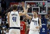 D.Nowitzki pagal taškus aplenkė NBA legendą, L.Dončičius ir E.Paytonas atliko trigubą dublį