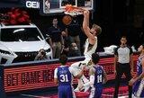 """D.Sabonis vėl buvo rezultatyviausias """"Pacers"""" žaidėjas, tačiau pergalės pasiekti nepavyko"""