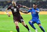 """""""Torino"""" ir """"Fiorentina"""" dvikovoje užfiksuotos lygiosios"""