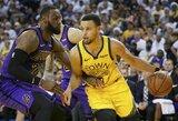 """L.Jamesas apie S.Curry: """"Niekada nenuvertink čempiono širdies"""""""