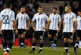 Argentina namuose pralaimėjo Ekvadorui, Čilė nugalėjo brazilus